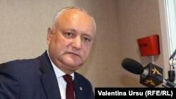 Președintele Igor Dodon în redacția Europei Libere, Chișinău, 3 septembrie 2020.