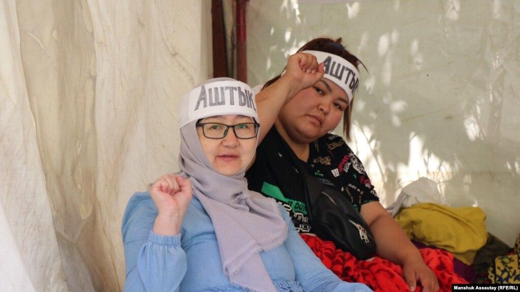 Активисты в Алматы, объявившие голодовку в поддержку соратников в столице