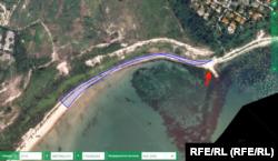 Плажът е изключителна държавна собственост, но не и в този случай. Част от пясъчната ивица въобще не е включена в картата. Източник: Агенция по кадастъра