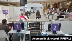 Маъракаи ваксинзанӣ дар шаҳри Нурсултон, 15-уми апрели 2021