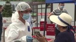 Многочасовые очереди и пробки у пунктов сдачи теста на коронавирус