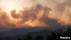 Пожар во турските одморалишта во Анталија