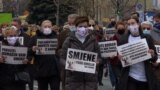 Protest, Sarajevo, Bosnia and Herzegovina