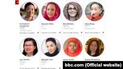 BBC түзгөн дүйнөдөгү таасирдүү айымдардын тизмеси.