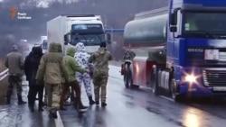 На західному кордоні України активісти блокують проїзд фур з російськими номерами (відео)