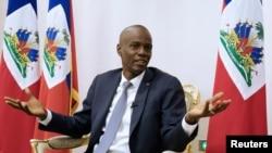 Președintele haitian Jovenel Moise în Palatul Național din Port-au-Prince