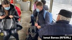 Silviu Rosu în tramvai