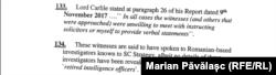 Lordul Carlile recunoaște că firma sa a apelat la investigatori români care sunt foști ofițeri ai serviciilor de informații