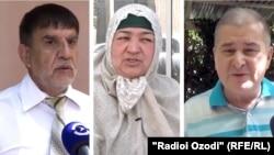 На фото (слева направо): Махмурод Одинаев, Мехрнигор Ризоева и Рахматилло Зойиров