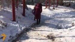 В симферопольском поселке страдают от погодных условий