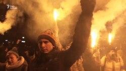 Як у Києві відзначили день народження Степана Бандери (відео)