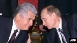 Vladimir Voronin cu Vladimir Putin