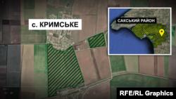 Графіка. Мапа Сакського району Криму, де, ймовірно, закладуть нові виноградники
