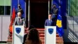 Kosovo: Prime Minister of Albania, Edi Rama and Prime Minister of Kosovo, Albin Kurti during a press conference in Prishtina, Kosovo