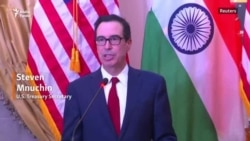 Mnuchin Is In India As Part Of A Tour To Build Support Against Iran