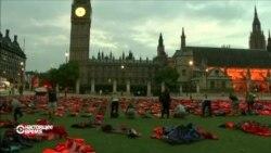 В центре Лондона прошла акция в защиту беженцев