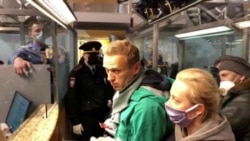 'I Am Not Afraid': Defiant Navalny Detained At Moscow Airport