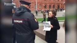 American Arrested Near Kremlin For Solo Protest