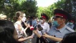 Милиция акцияга чыккан активисттерди таратты