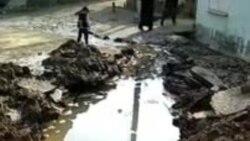 В Янгиюльском районе Ташобласти прорвало магистральную трубу