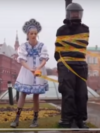 A screengrab from a Pussy Riot protest performance near Moscow's Red Square, which landed Rita Flores in jail.