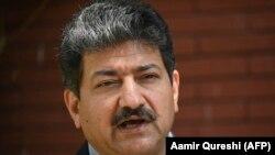حامد میر خبرنگار و مجری شناخته شده برنامههای سیاسی پاکستان