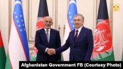 دیدار رئیس جمهور اشرف غنی با همتای ازبیکستانیاش در تاشکند