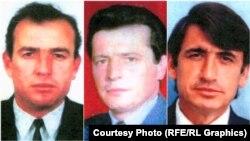 Mark, Pashk i Pjeter Abazi (Krasnići), braća i stric Ljuša Krasnićija, pronađeni u masovnoj grobnici u Batajnici, a ubijeni u masakru u Meji, fotoarhiv