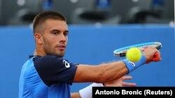 Teniser Borna Ćorić, jedan od zaraženih korona virusom na turniru u Zadru, 21. jun 2020.