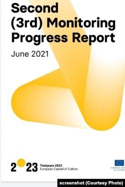 Coperta Raportului de monitorizare a Capitalei Culturale Europene 2023 Timișoara