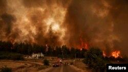 Incendii de pădure în Grecia