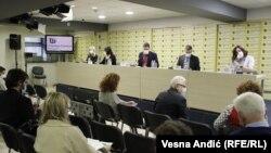 Sa pres-konferencije u Beogradu