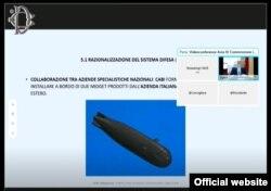 اسکرینشات برگرفته از گزارش ارائه شده به پارلمان ایتالیا