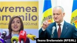 Președinta Maia Sandu și liderul PSRM, Igor Dodon