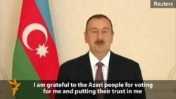 Aliyev Thanks Azerbaijan Voters For Third Term