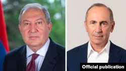 Armenia - President Armen Sarkissian and former President Robert Kocharian.