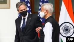 АКШнын мамлекеттик катчысы Энтони Блинкен жана Индиянын тышкы иштер министри Субраманьям Жайшанкар. Нью-Дели, 28-июль, 2021-жыл.