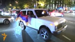 Cars Join Yerevan Electricity Rate Protest