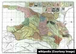 სამეფო იბერიისაი ანუ ყოვლისა საქართველოსი კართა ანუ რუკა, რომელ არს ორთა ზღვათა შორის პონტოსა და კასპიისა. ვახუშტი ბატონიშვილი