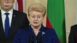 Lithuanian President Says Russia Uses Energy For 'Manipulation'