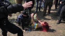 На українсько-польському кордоні поліція затримала активістку Femen (відео)