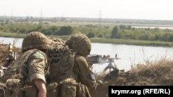 Украинские военные на общих учениях с НАТО «Объединенные усилия» в Херсонской области, 2020 год