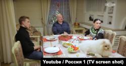 "Кадар з праграмы ""Александр Лукашенко. Действующие лица с Наилей Аскер-заде"", Расея 1"