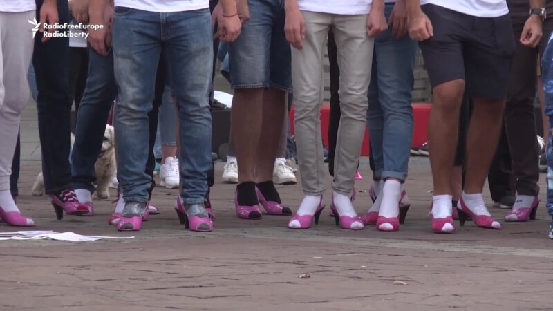 'In Her Shoes:' Men Run In Heels To Raise Breast-Cancer Awareness