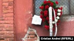 """O coroană depusă în memoria victimelor incendiului de la Institutul Național de Boli Infecțioase """"Matei Balș"""""""