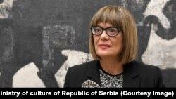 Maja Gojković, ministarka kulture u Vladi Srbije