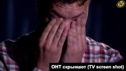 Роман Протасевич во время съемок в передаче государственного белорусского канала ОНТ.
