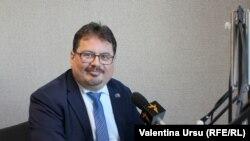 Ambasadorul UE la Chișinău, Peter Michalko, în studioul Europei Libere (foto arhivă).