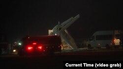 سقوط طیاره نظامی قزاقستان در شهر الماتای