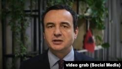 Albin Kurti koszovói miniszterelnök felhívása a cenzusról